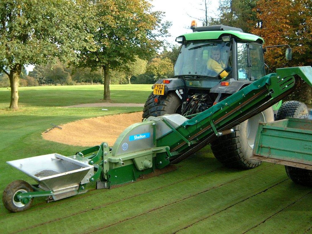 Slit drainage is less intrusive and gets your course back in use quickly.
