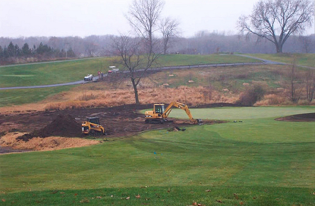 Course Renovation in progress at Bracketts Crossing Country Club