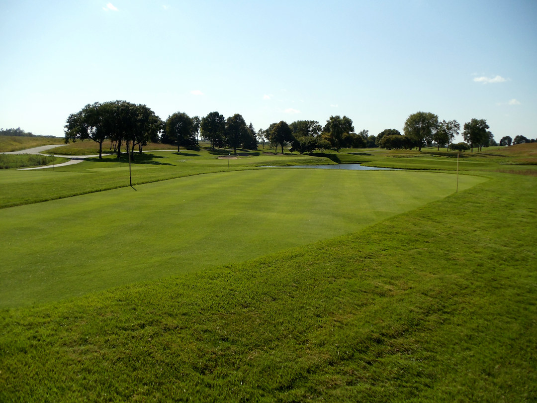 Drainage for green by 8th hole at Hazeltine National Golf Course