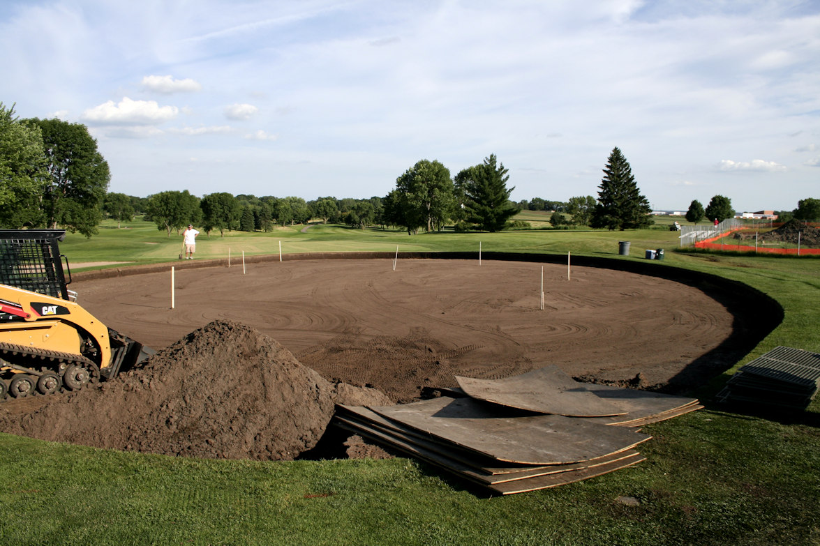 Drainage issues at 18th hole on Hazeltine National Golf Club
