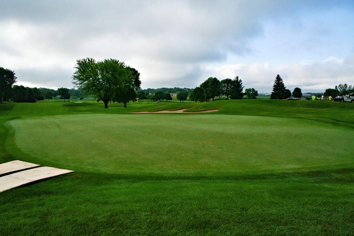 Finished 18th hole at Hazeltine National Golf Club