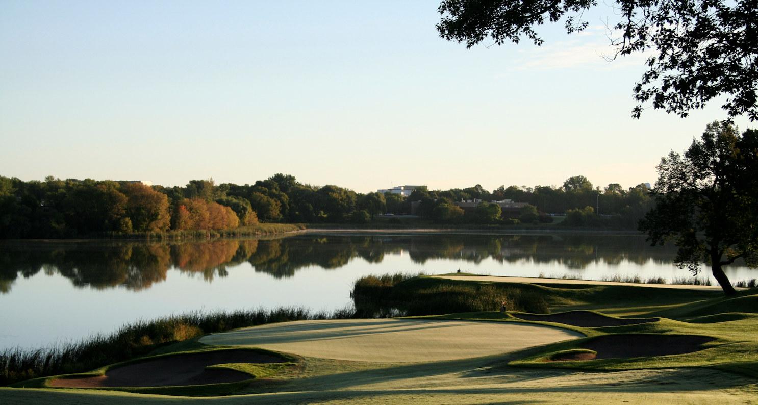 Completed green restoration at Hazeltine National Golf Club