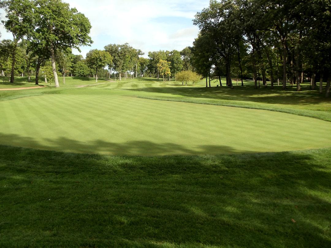 Finished green at Hazeltine National Golf Club