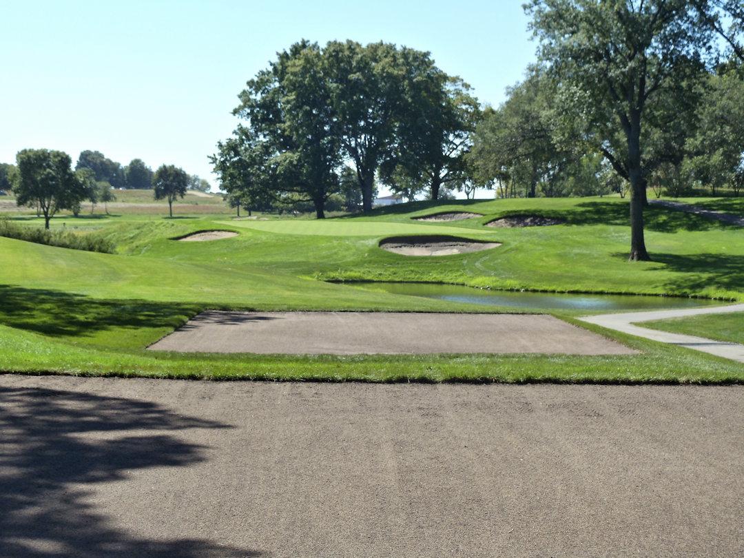 drainage installation at 17th hole of Hazeltine National Golf Club