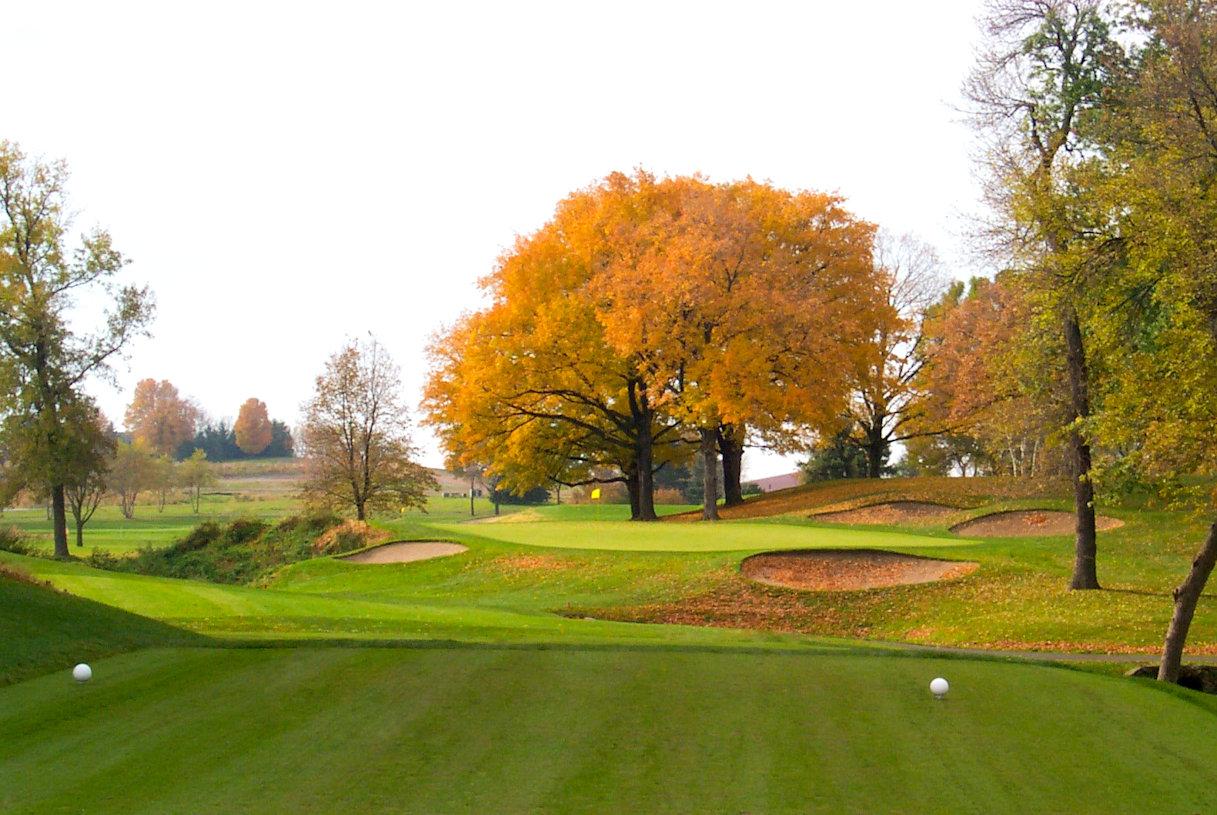 Finished renovation on 17th hole at Hazeltine National Golf Club