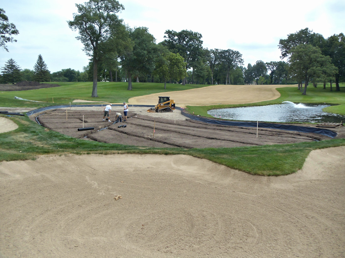 Tile Drainage for Hole #6 at Hazeltine National Golf Club