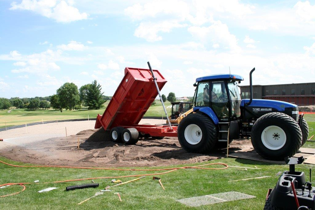 Drainage mix install at Hazeltine National Golf Club