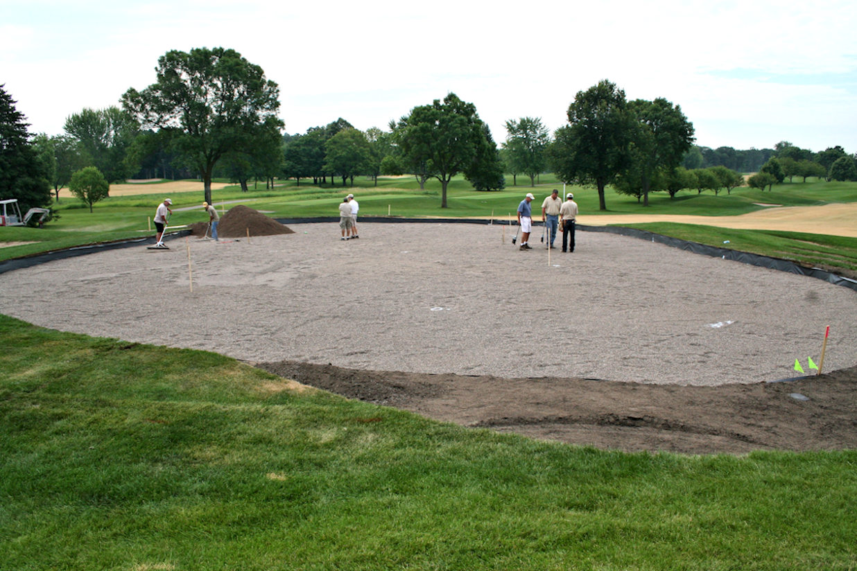 Hole 2 core out at Hazeltine National Golf Course