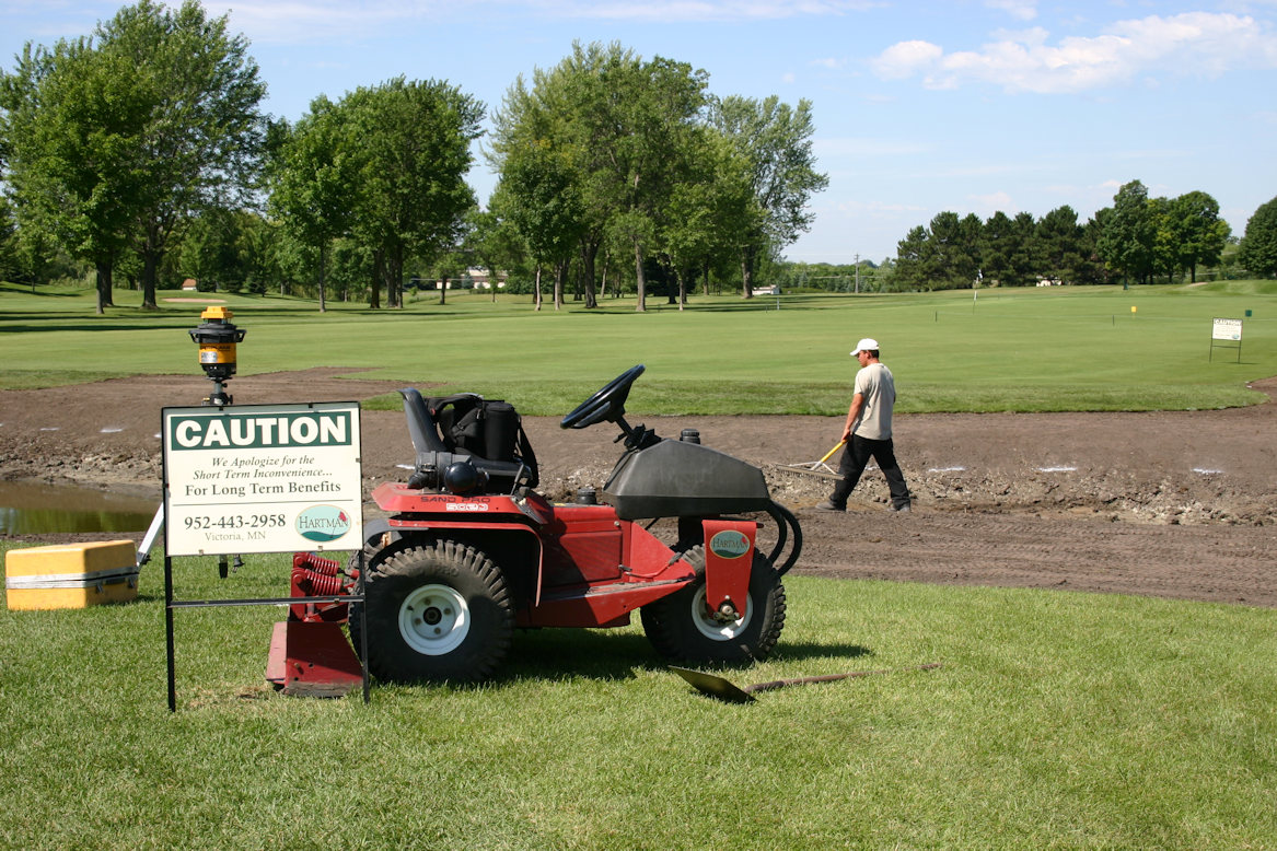 Medina Golf and Country Club greens renovation