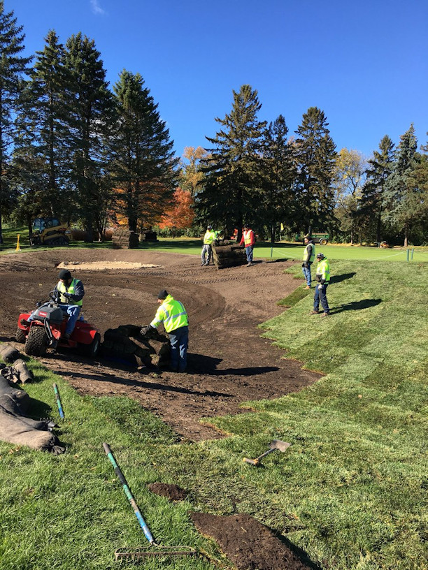 Course construction at Mendakota Country Club