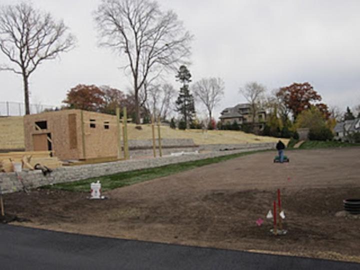 Minikahda Club range wall construction