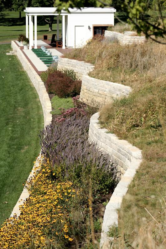 Minikahda Golf Course Renovation club range tee walls