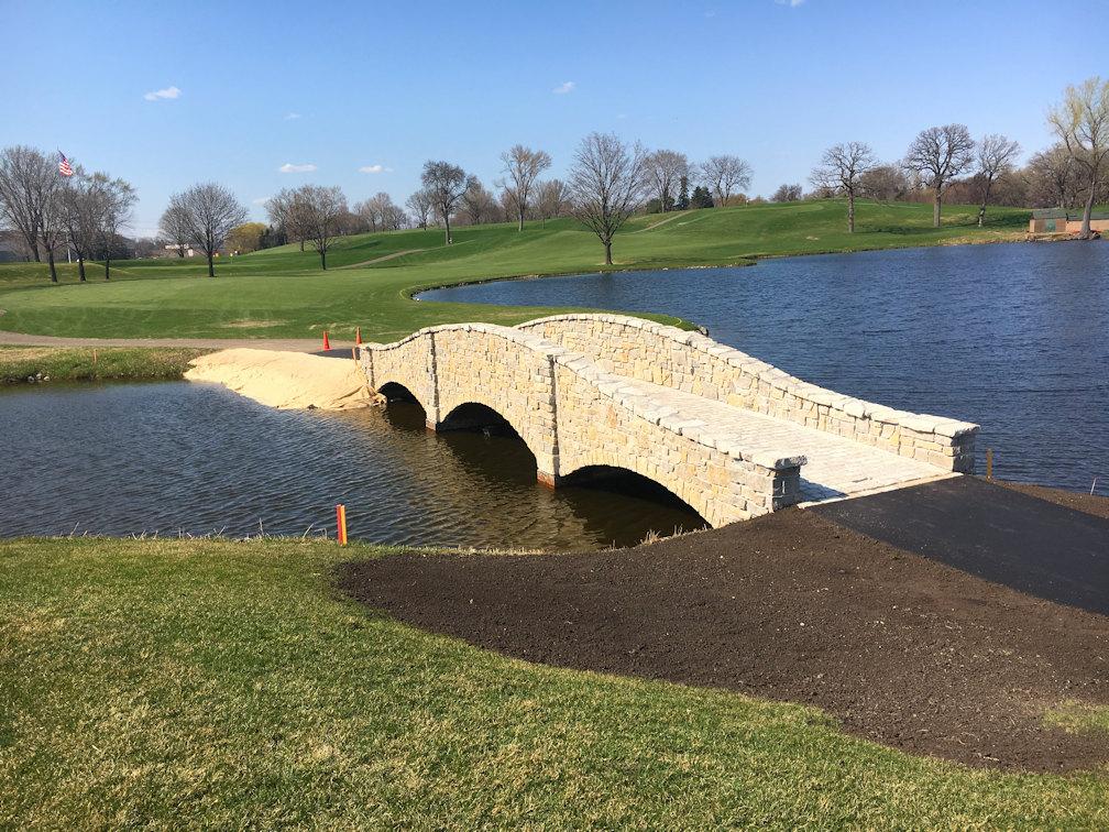Hartman Companies bridge at Midland Hills golf course