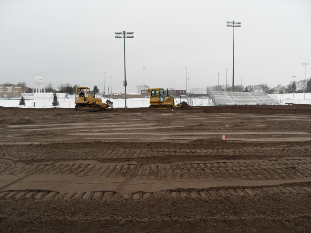 St. Anthony football field renovation mix install