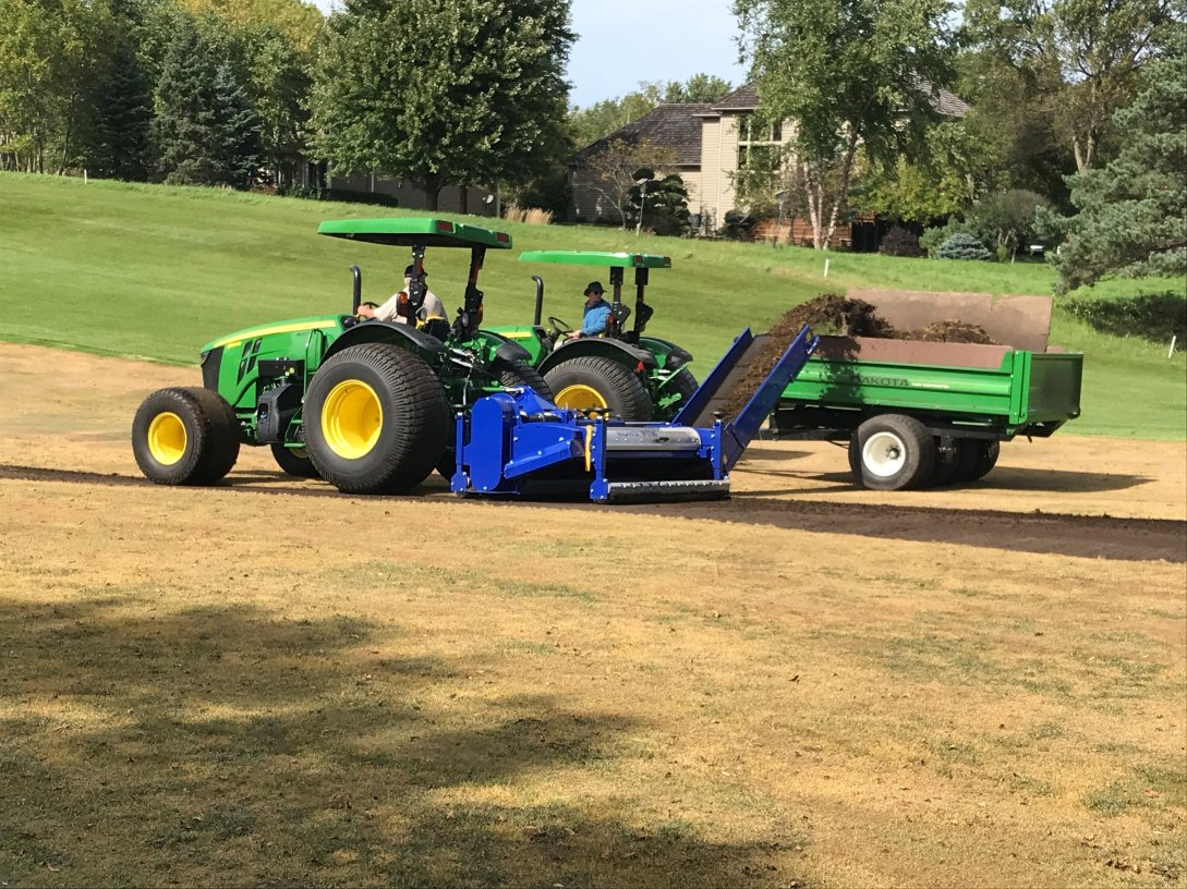 Stripping and fraze mowing turf renovation