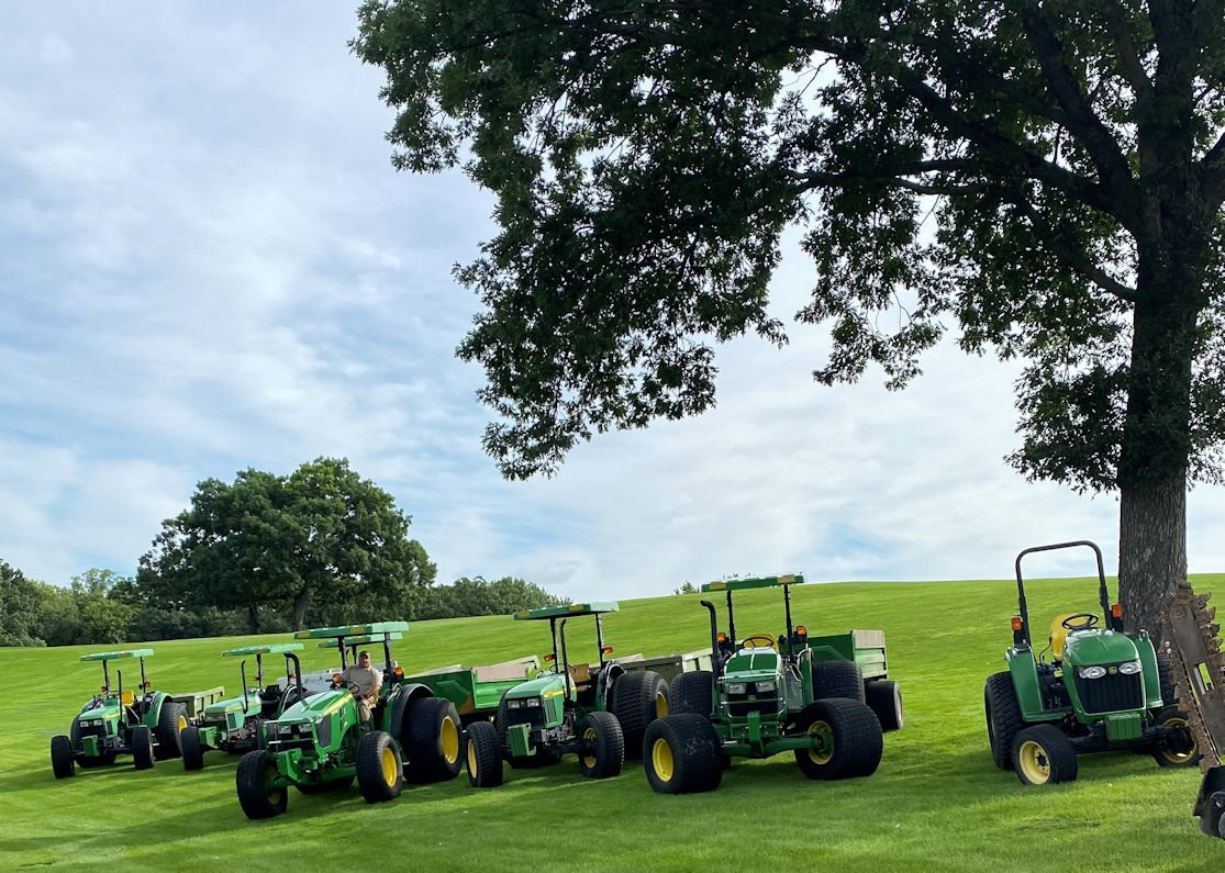 Hartman Companies equipment comes with flotation tires to minimize turf disruption